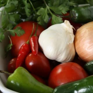 Sofrito ingredients