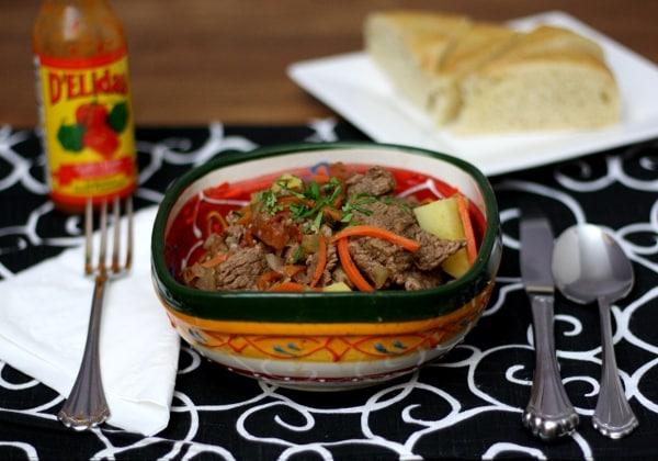 Panamanian Beef stew | ethnicspoon.com