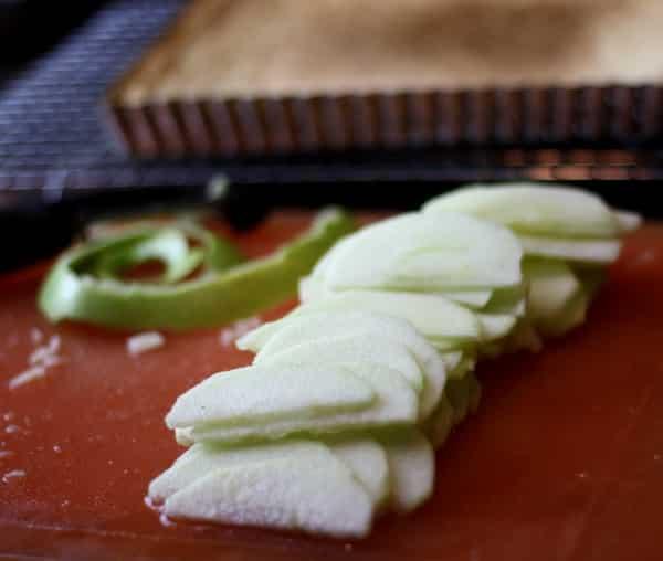 apple slices for French apple tart