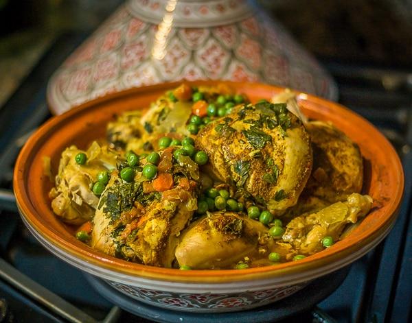Moroccan Chicken Tagine when done