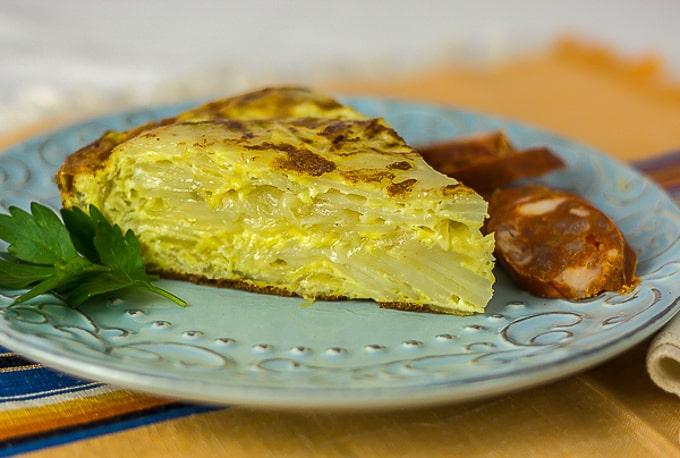 Authentic Tortilla Espanola - Spanish Potato Pie