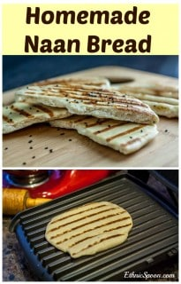 Homemade Naan is an Indian flat bread. It's easy to prepare. Naan is eaten as an accompaniment to stews. Fresh herbs or nigella seeds can add an interesting flavor