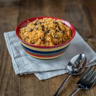 Arroz con gandules or rice with pigeon peas