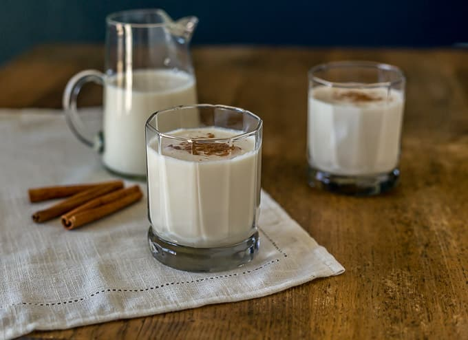 Find out what coquito is and how to make this egg free style eggnog with rum from Puerto Rico.  This is a simple recipe for Puerto Rican Coquito | ethnicspoon.com