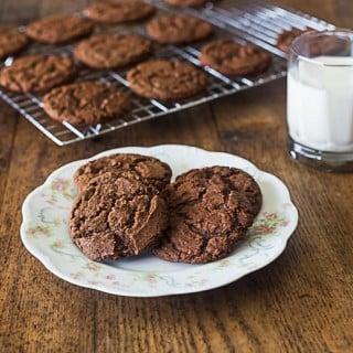 Aunt Lou's Chocolate drop cookies   ethnicspoon.com