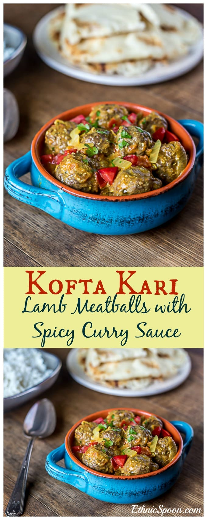 Kofta kari: Indian lamb meatballs with a curry sauce. Spicy and delicious! | ethnicspoon.com