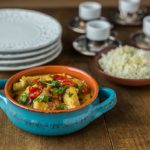 Simple coconut curry chicken served over rice. | ethnicspoon.com