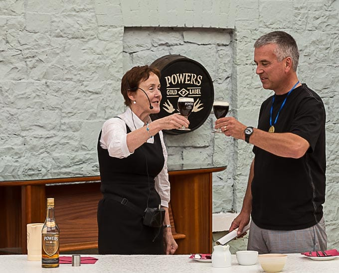 Irish coffee demonstration at Foynes flying boat museum