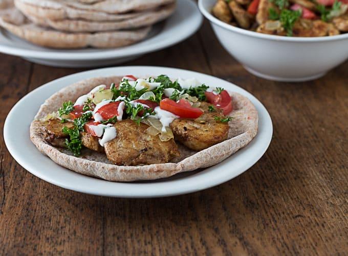Easy (non-grilled) Chicken Shawarma Recpe | ethnicspoon.com