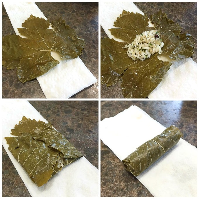 How to roll dolmas