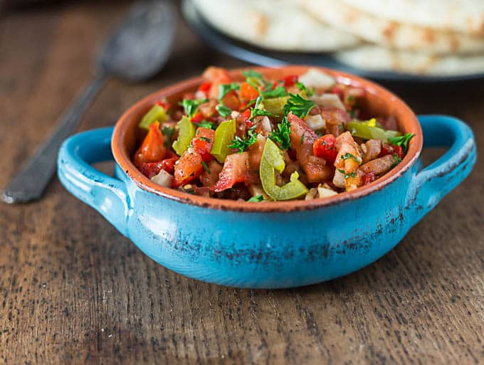 Turkish tomato pepper relish