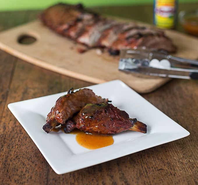 ... mango habanero ribs grilled to absolute perfection. It's not a dream