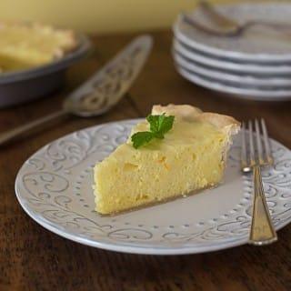 light and fluffly orange lemon pie|ethnicspoon.com