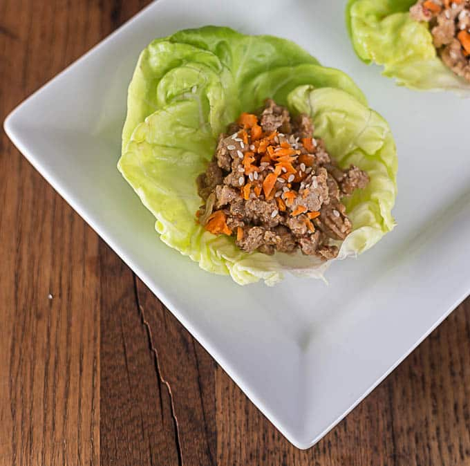 spicy chicken lettuce wrap with a Thai style seasoning ...