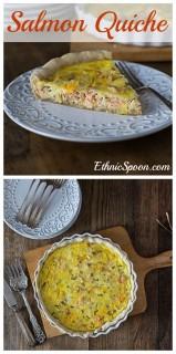 A simple salmon quiche recipe with French tarragon. | ethnicspoon.com
