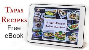 Get a free tapas E-book when you sign up for my weekly emails