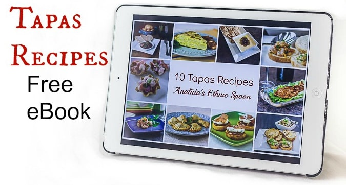 10 Tapas Recipe Free eBook. These are my all-time favorite and easy tapas dishes. | ethnicspoon.com