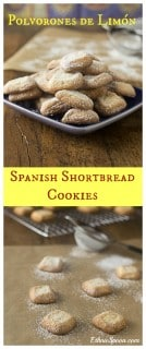 Spanish Christmas cookies: Polvorones de Limón. A really simple unique cookie for the holidays.   ethnicspoon.com