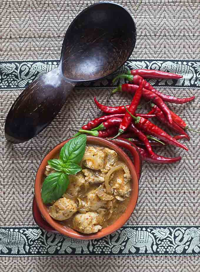 Thai cooking with red curry is an easy way to bring some international flair to the table! This is a super fast and easy recipe with great flavors! | ethnicspoon.com