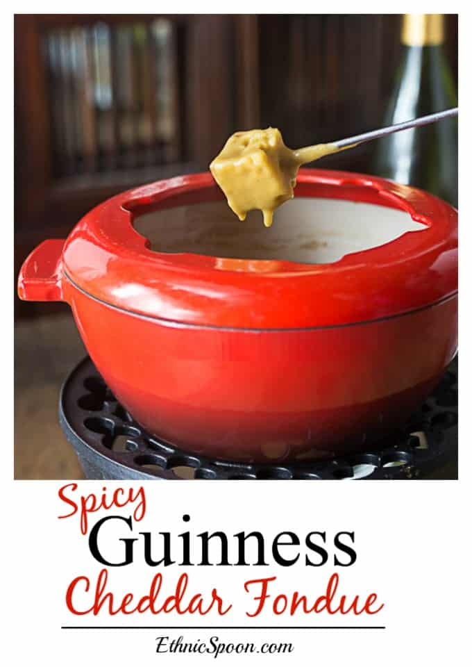 Easy cheesy Guinness cheddar fondue is one of my all time favorites ...