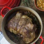 Simple an delicious French herbed slow roasted leg of lamb. | ethnicspoon.com