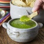 Break out the chips? You need some mango tomatillo salsa verde! A little heat and sweet is a great combination! | ethnicspoon.com
