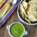 Got chips? You need some mango tomatillo salsa verde! A little heat and sweet is a great combination!   ethnicspoon.com