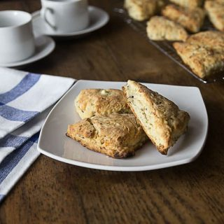 Melt in your mouth savory feta walnut scones. These have a crispy, crumlby and salty combination of flavors. | ethnicspoon.com