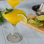 Enjoy the summer heat with a frozen mango rum cocktail with mint! Sweet, tart and delicious! | ethnicspoon.com