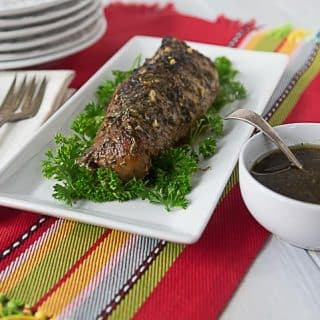 Enjoy a tropical style pork loin in tamarind sauce with garlic and herbs. Melt in your mouth tender with sweet and delicate flavors. | ethnicspoon.com