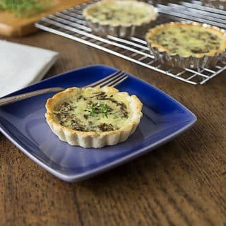 Try a rustic quiche with porcini mushrooms and gruyere. A delicious dish with earthy, nutty flavors and a nice pungent cheese too! You will love this! | ethnicspoon.com