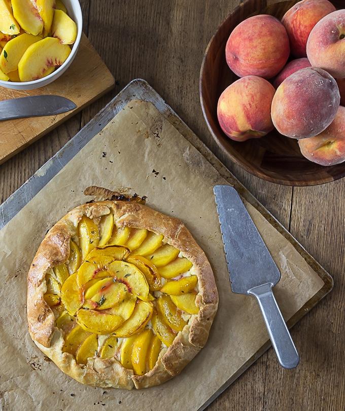 Peach Crostata - Analida's Ethnic Spoon