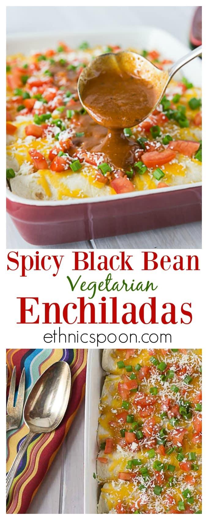 Spicy Black Bean Enchiladas - Analida's Ethnic Spoon