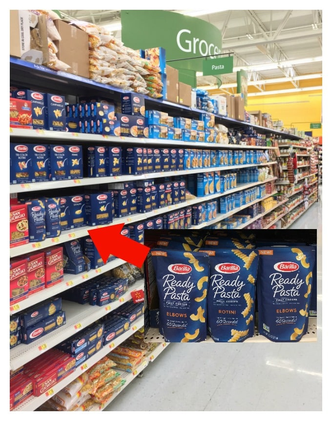 You can find Barilla Ready Pasta in the pasta aisle in Walmart | ethnicspoon.com