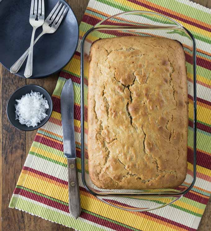 Jamaican toto is an authentic and traditional coconut cake that is really easy to make and has some nice spice favors too. | ethnicspoon.com