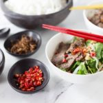 You will love this cool salad with authentic Vietnamese flavors! Vietnamese Beef Noodle Salad (Phở Trộn) is a delicious recipe for noodle salad for the hot summers in Hanoi or anywhere when you need a cool dish for lunch or dinner. This has some of the best Vietnamese contrast of flavors: salty, tangy, sweet, butter and some hot chillies for some heat too! Try some Pho Tron! | ethnicspoon.com