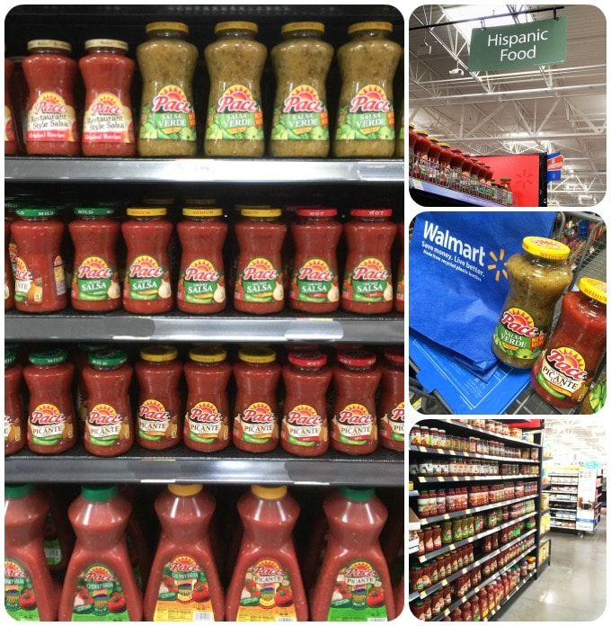 Pace salsa on the shelf at Wal Mart