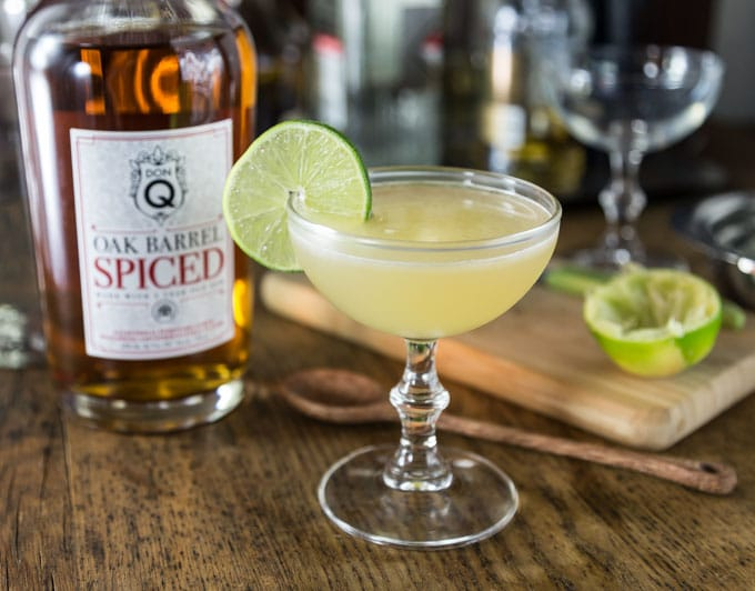 Try a spiced rum daiquiri with tart and sweet rum flavors! Shake this up and enjoy! You will love the subtle flavors in this classic Hemingway daiquiri cocktail made with Don Q Spiced rum. | ethnicspoon.com