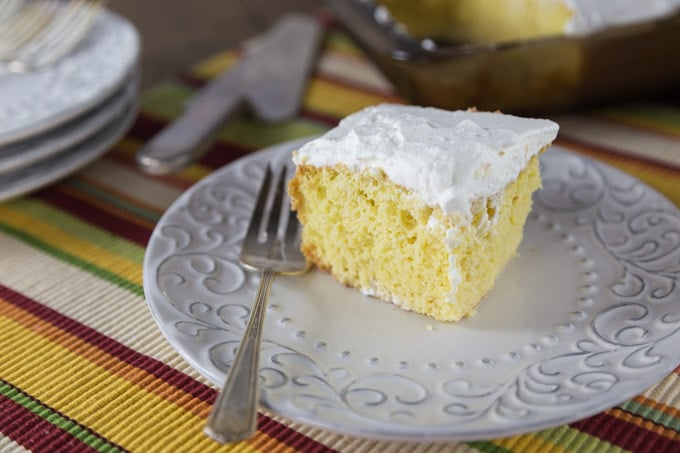 "If there is one dessert that is truly Latin American I would have the say this is it. Tres leches cake is a super easy to make and oh so tasty! You start with a simple sponge and soak it with evaporated milk, sweetened condensed milk and whole milk. Top it off with some whipped cream and you have a cake dairy delight known in Latin America and Spain as tres leches pastel. These types of cakes with a sweet syrup of fruit liquid poured over are getting popular in American and known as ""poke cake"". You poke holes and then pour over your sweet soaking liquid. Enoy! 