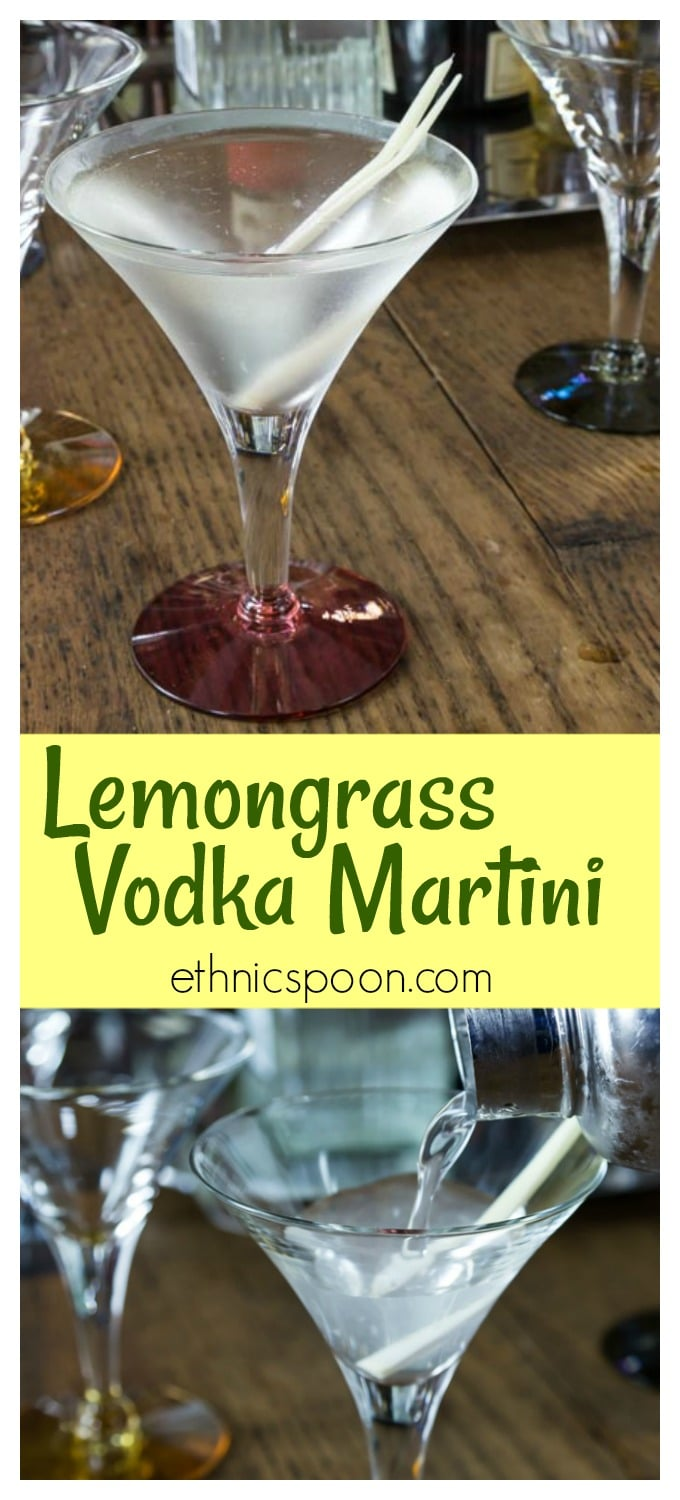 No dry martinis for me. Lemongrass vodka martini adds a fresh lemon flavor to a popular cocktail. Shake up a vodka martini with a Southeast Asian twist. Learn preparation techniques to use lemongrass in several different dishes. This drink uses lemongrass infused simple syrup and it adds a subtle flavor. | ethnicspoon.com